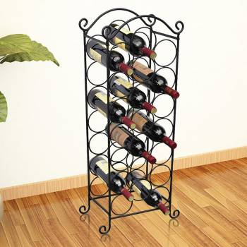 Suport sticle de vin pentru 21 de sticle, metal-1