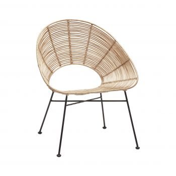 Scaun rotund, rattan, nature-1
